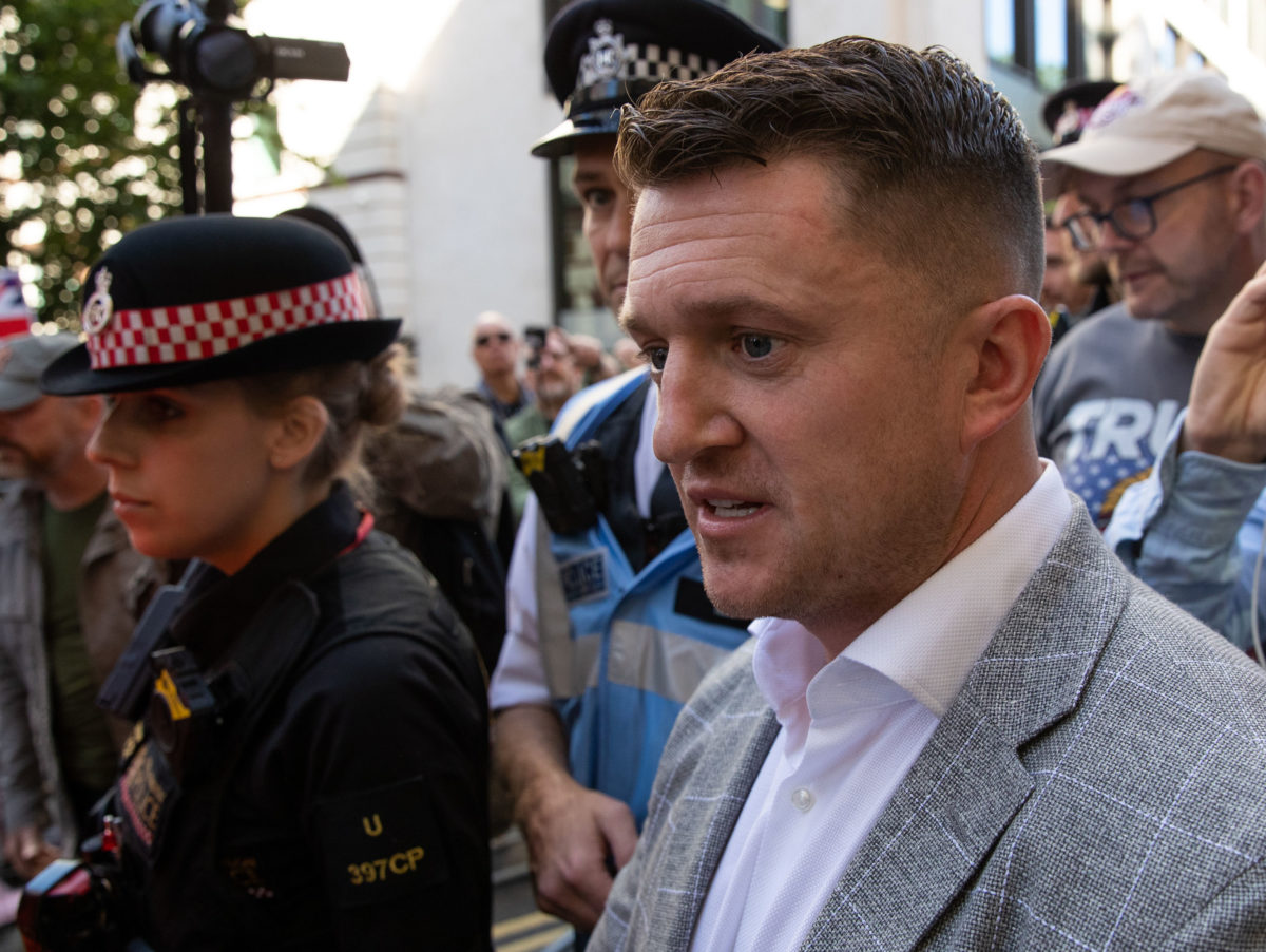 Tommy Robinson's live broadcast outside court in sex ring case was 'reckless', High Court told