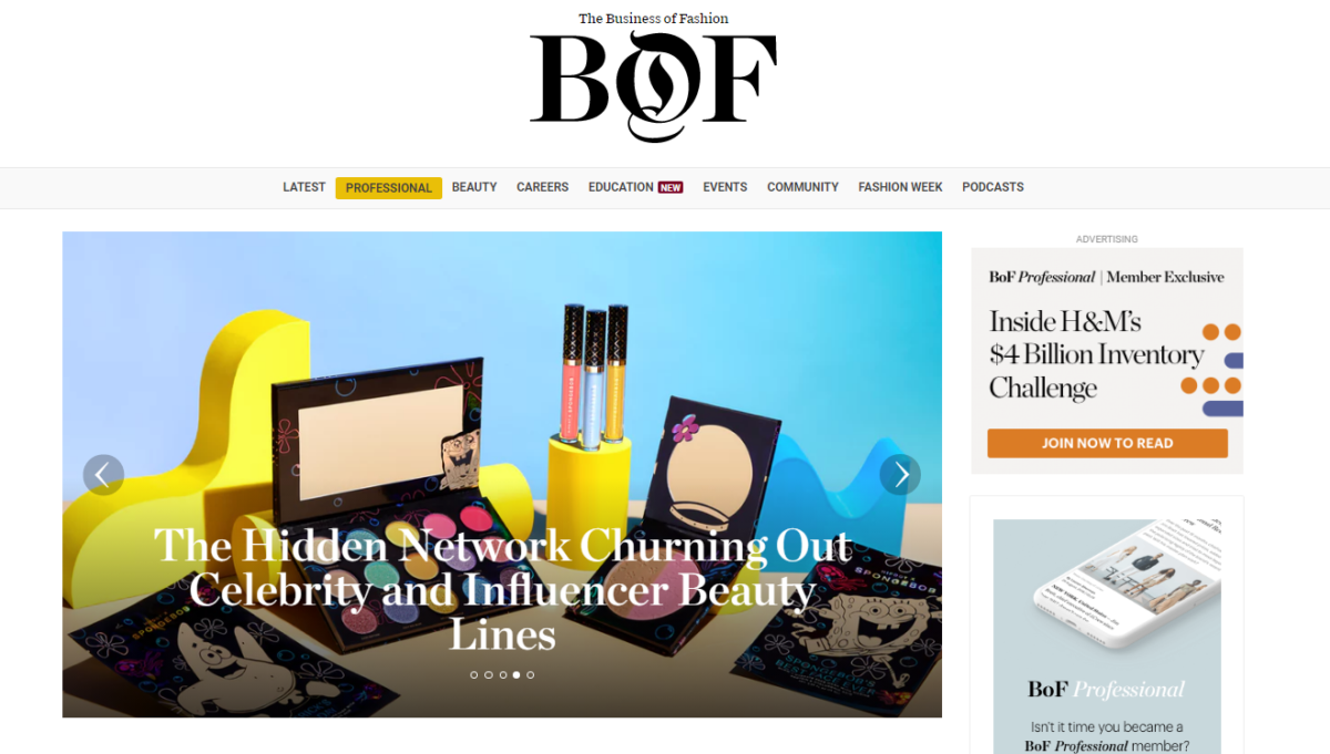 Financial Times takes minority stake in subscription B2B website Business of Fashion
