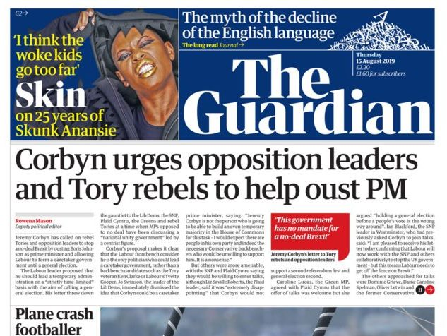 National newspaper ABCs: Guardian sees smallest circulation decline for July 2019