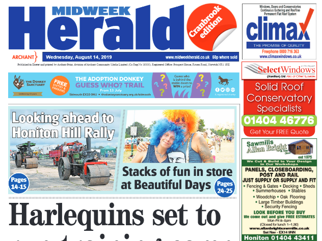 Devon weekly apologises after running front page story about event in Kent