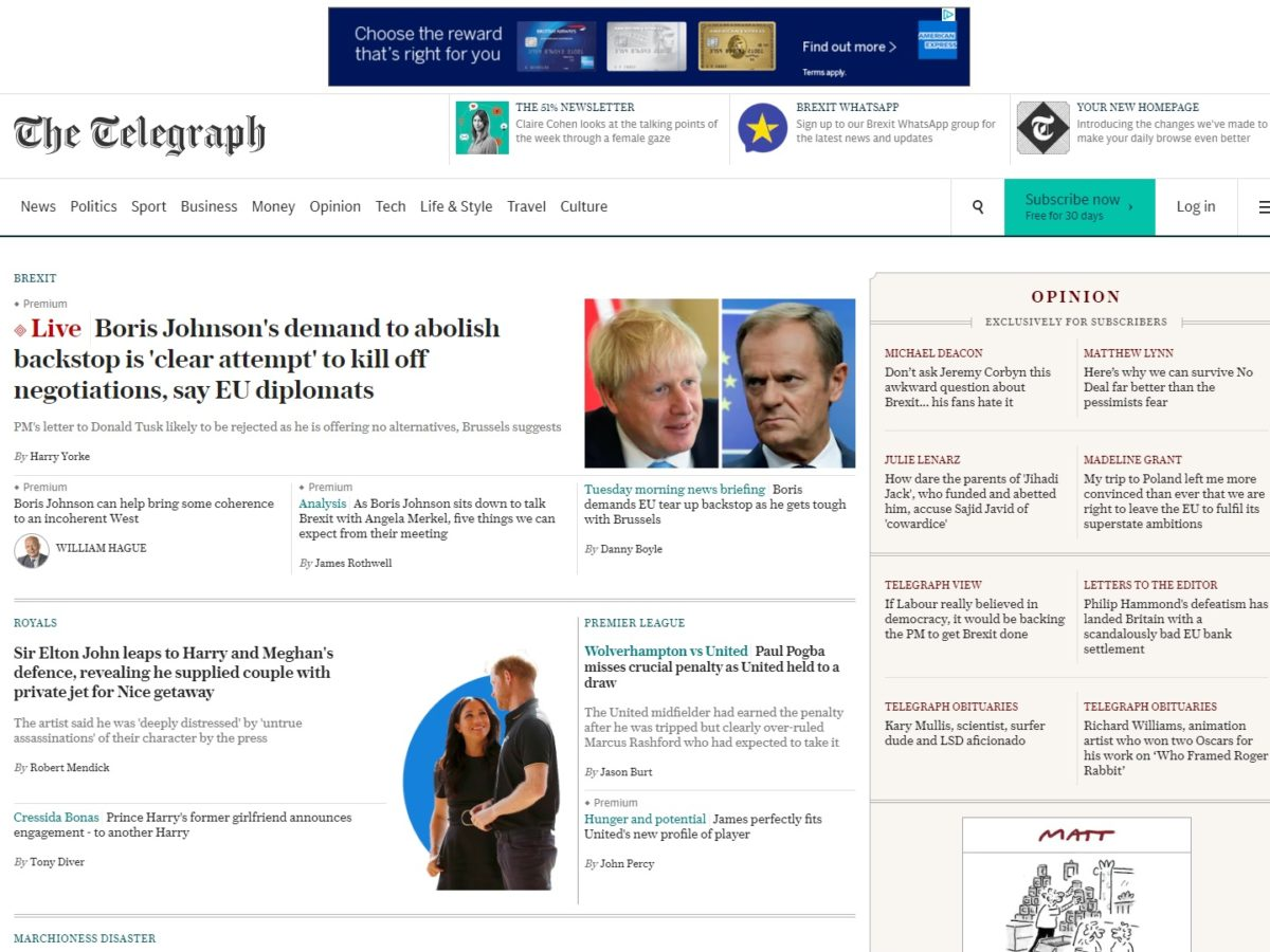 Telegraph to make website free for a day to mark 25 years online