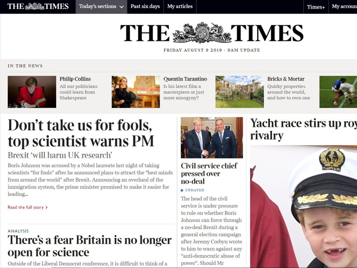 Times and Sunday Times pass 300,000 paid digital-only subscribers