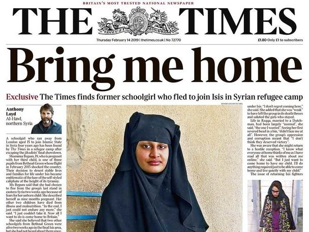 Met loses bid to grab journalists' notes from ISIS bride Shamima Begum interviews