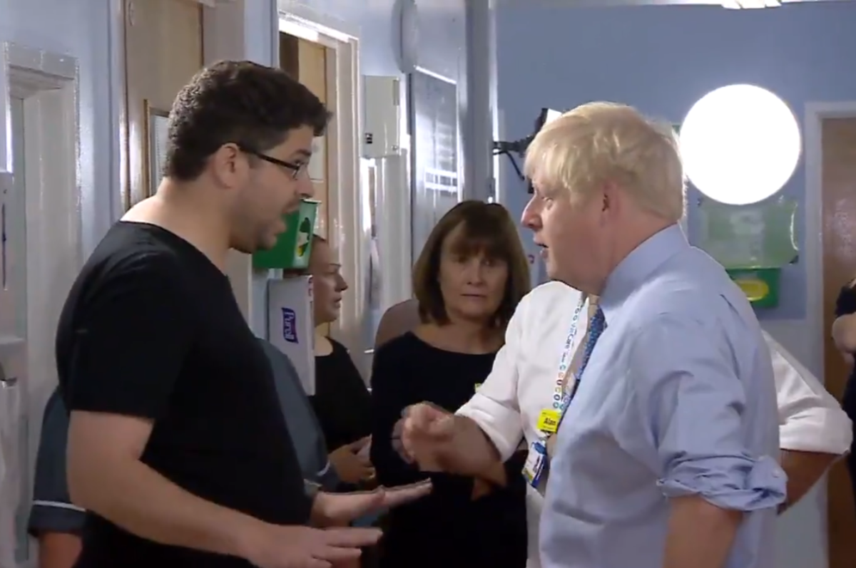 Father who confronted Boris in hospital defends BBC political editor over tweet criticism