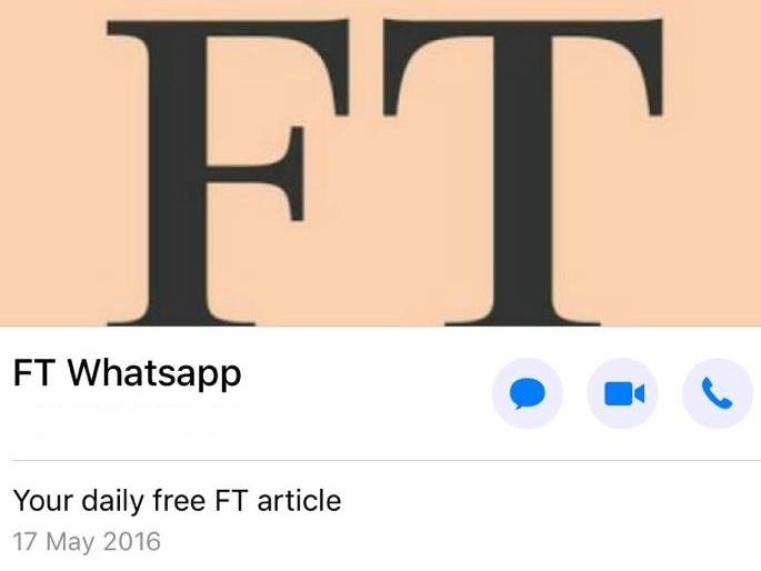 FT closes Whatsapp group sharing free stories as platform clamps down on bulk messaging