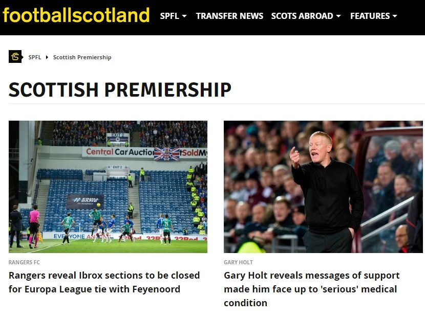 Reach to move Football Scotland website under Daily Record with one job loss