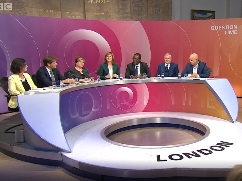 BBC backs Fiona Bruce as 'fantastic' Question Time host in response to complaints