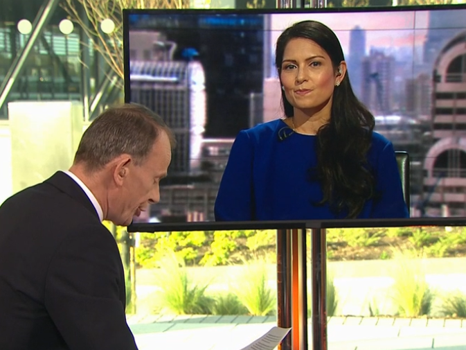 BBC 'sorry' after Andrew Marr accuses Priti Patel of laughing during interview