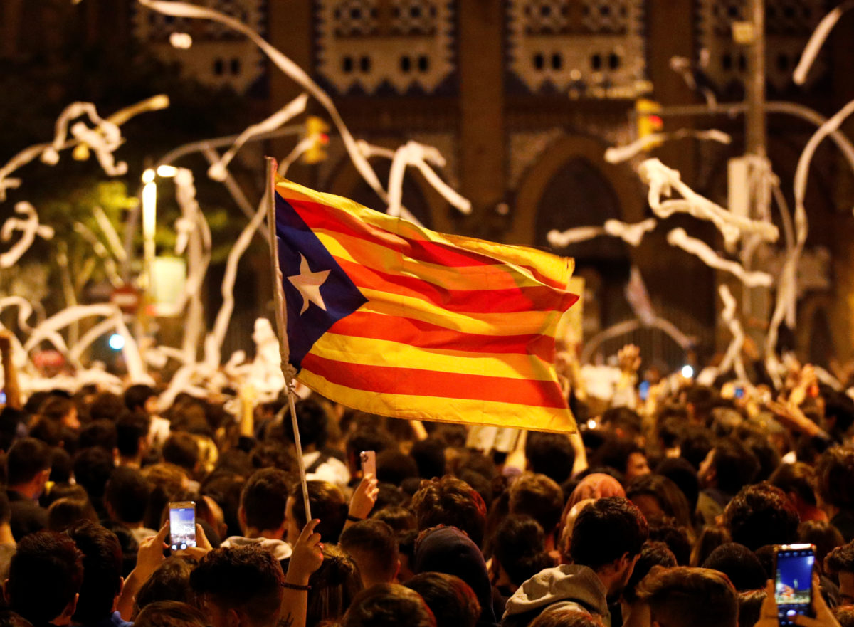 Calls for probe after 12 journalists targeted by police in Catalan clashes