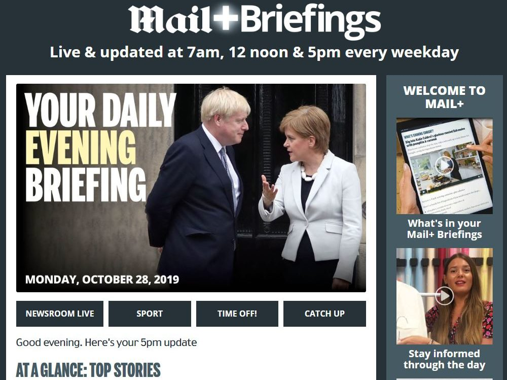 Daily Mail launches free daily briefings with video bulletins under Mail Plus banner