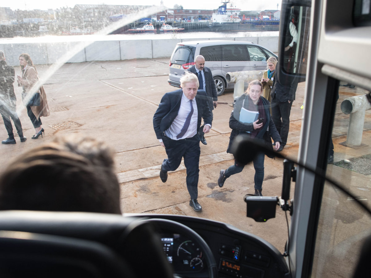 Mirror barred from Boris Johnson campaign battle bus