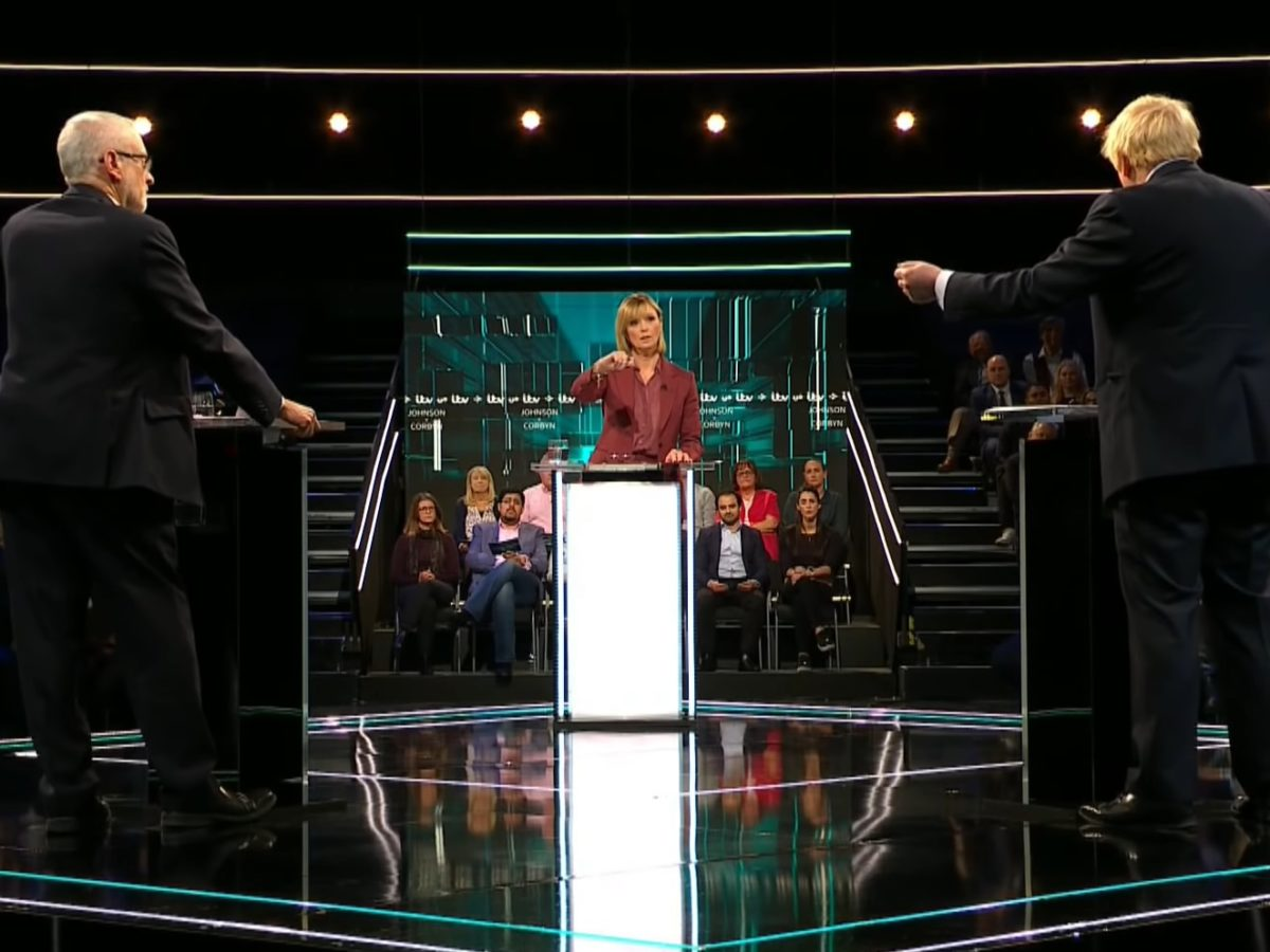 ITV debate between Johnson and Corbyn peaks at 7.3m viewers with record audience share