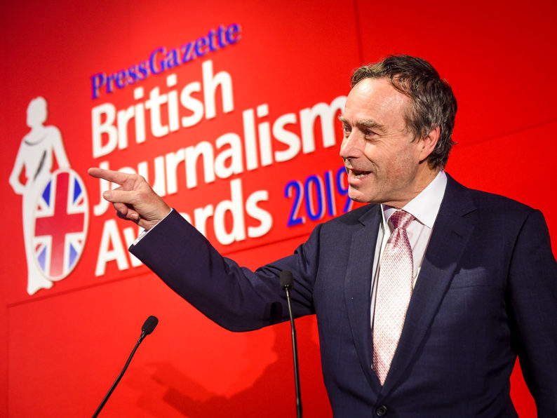 British Journalism Awards 2019: FT wins top prize for second year in triumphant end for departing editor