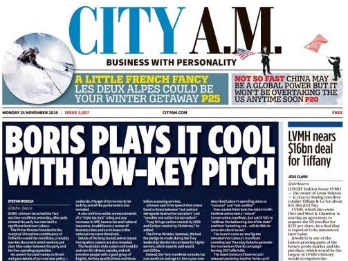 City AM to publish afternoon edition ahead of election for only second time in decade