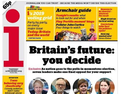 'Clowning Street': UK election day newspaper round-up