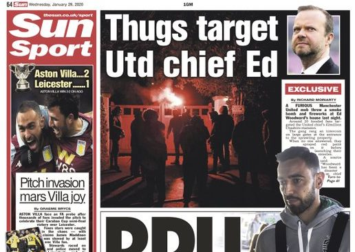 Sun defends coverage of attack on Manchester United boss's home seen by reporter