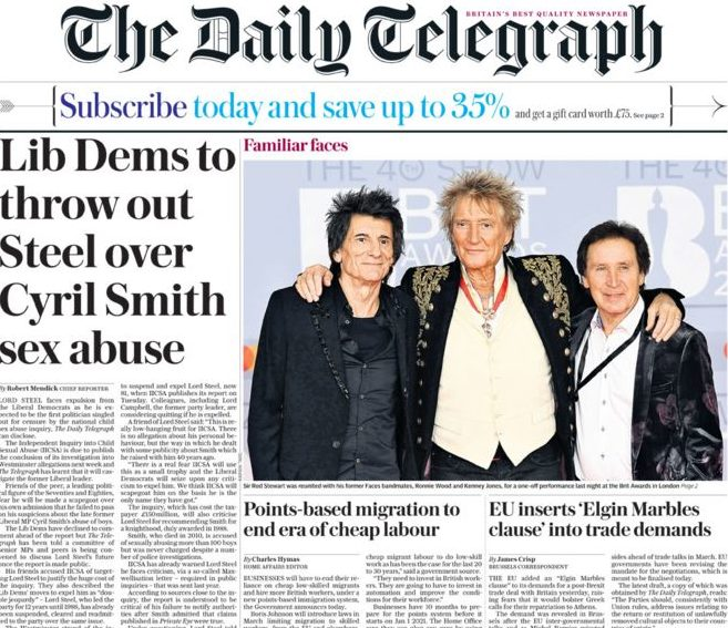 WH Smith cuts Telegraph stock in stores amid dispute over sales margins for retailers