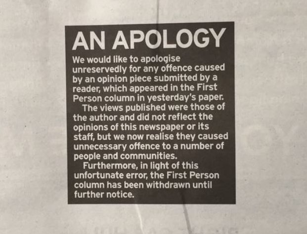 Hull Daily Mail apologises for opinion piece attacking diversity in the UK