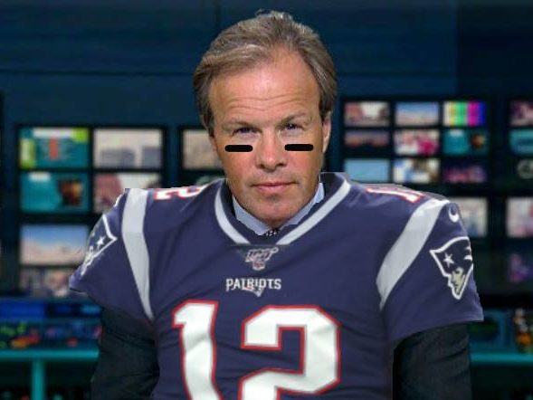 ITV's Tom Bradby has fun with Twitter questions meant for Patriots quarterback Tom Brady