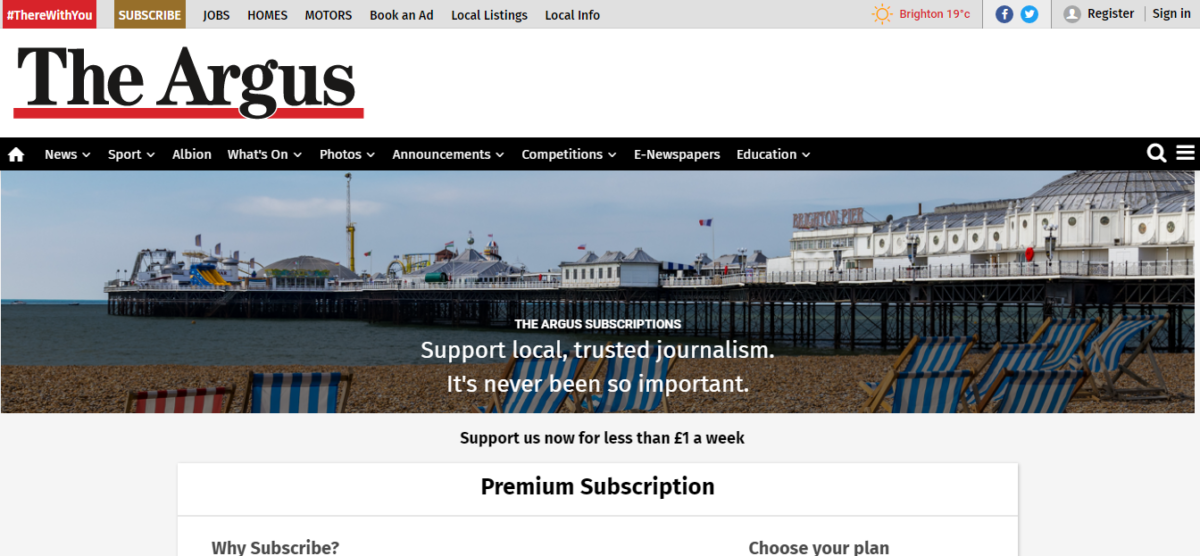 Newsquest launches metered paywall across all daily newspaper websites
