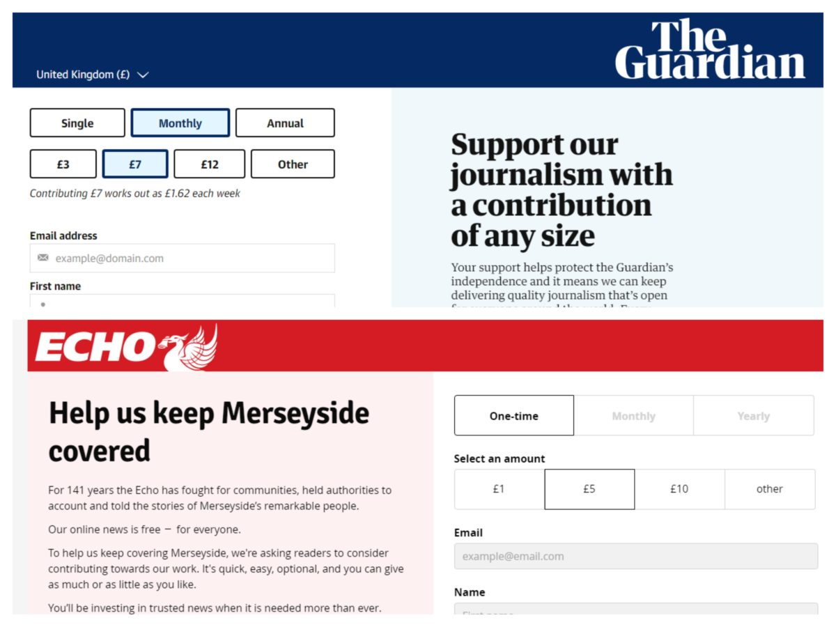 Liverpool Echo issues contributions plea as Guardian voluntary payments grow by fifth