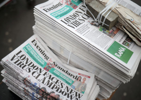Evening Standard set to cut staff as business among hardest hit by Covid-19 crisis