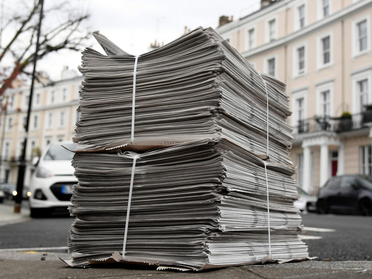 National newspaper ABCs: Print sales hold during coronavirus outbreak before UK lockdown