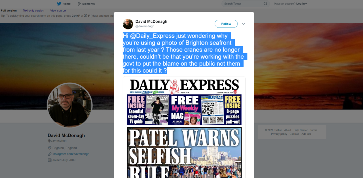Hacked Off founders share false claims Daily Express front page was faked