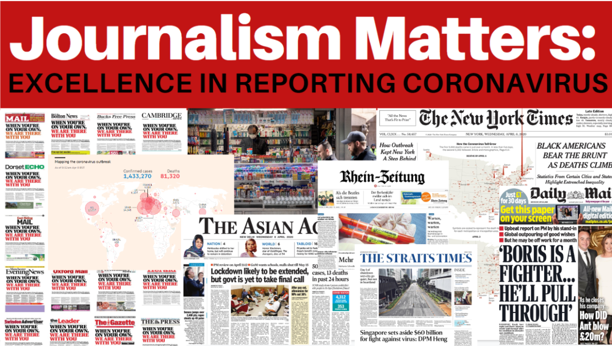 Some 600 nominations for Journalism Matters: Excellence in Reporting Coronavirus survey