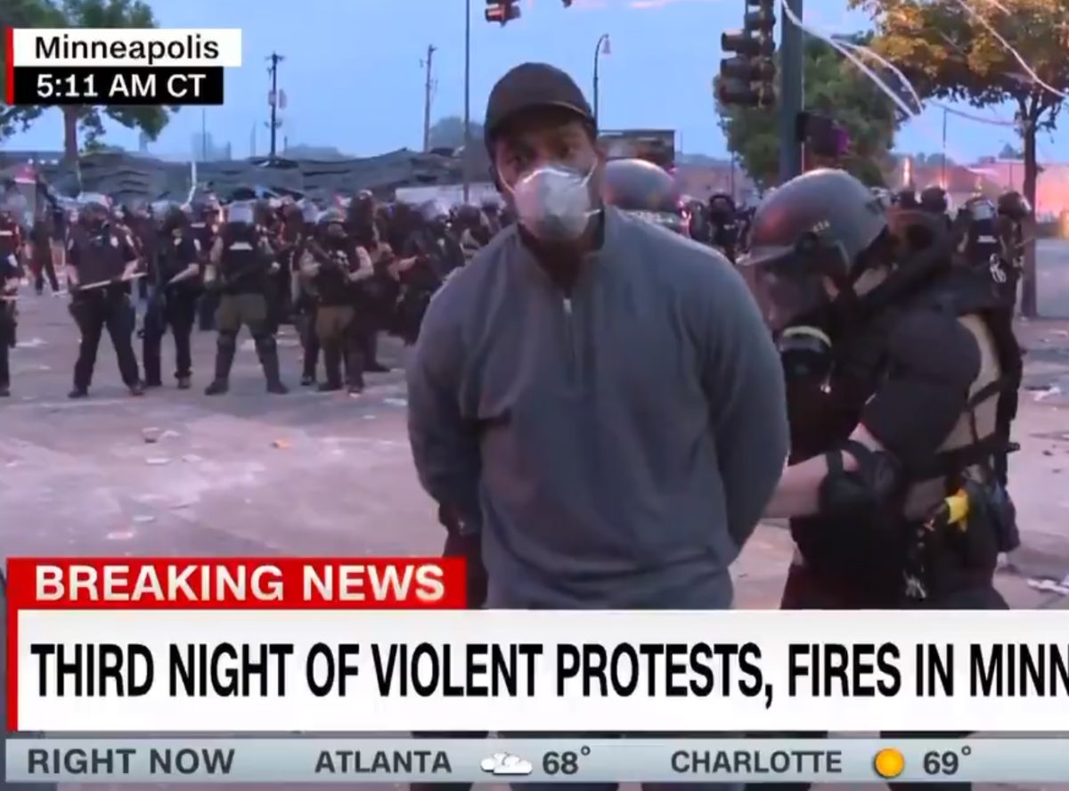 CNN journalist arrested live on air while covering rioting over death of George Floyd