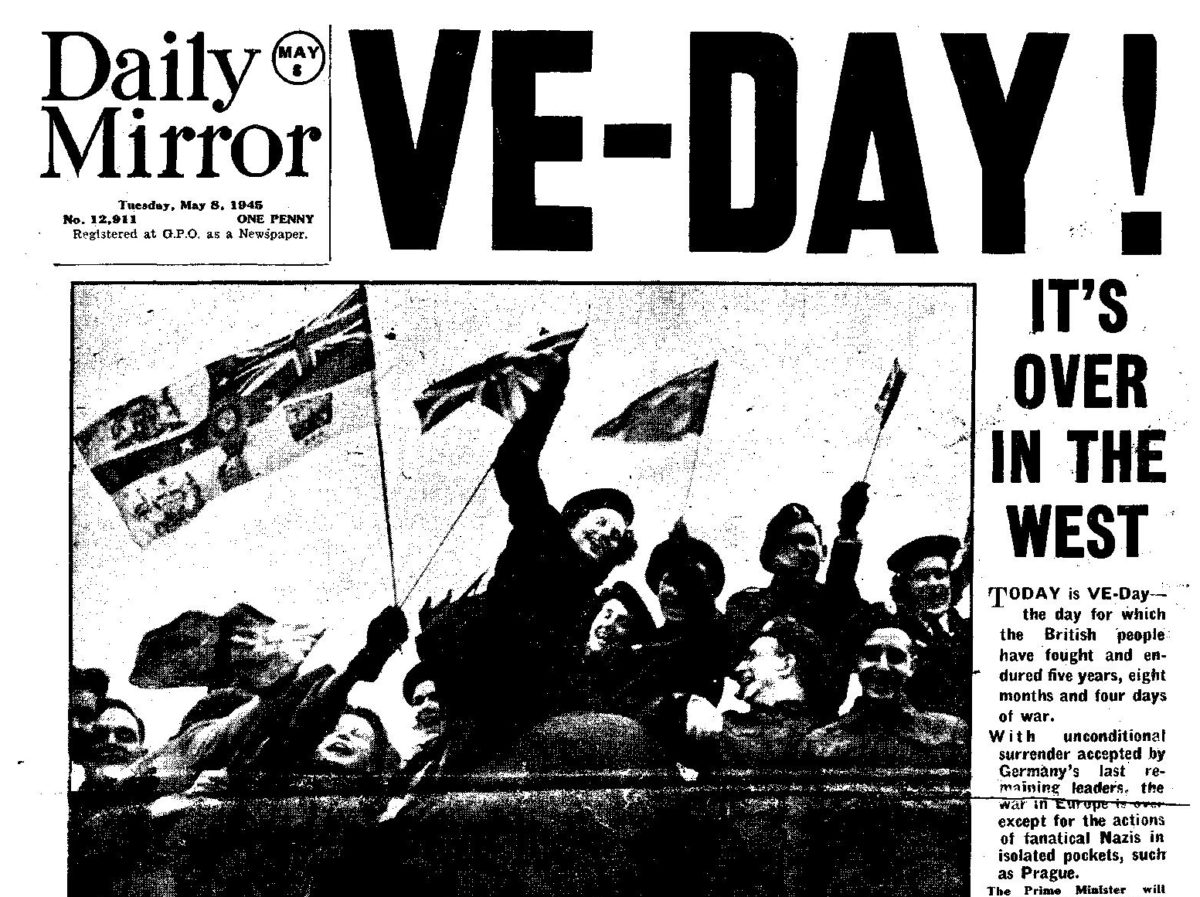 Advance Britannia! How UK newspapers marked VE Day on their front pages