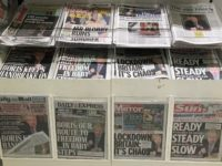 UK newspapers on sale during the lockdown
