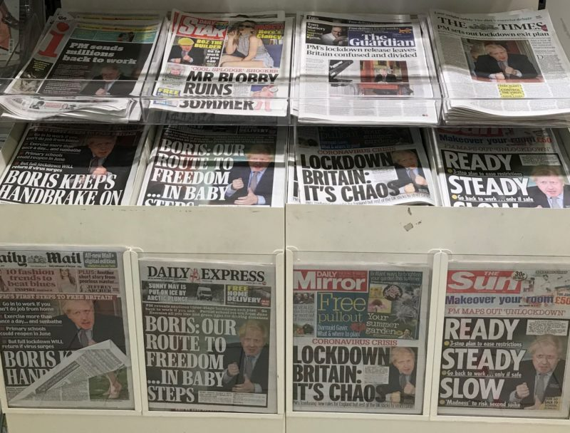National press ABCs: FT and i only newspapers to grow in May year after first lockdown