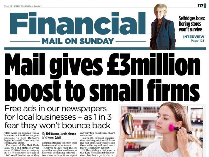 Mail, Metro and i titles offer £3m of free ads to help Covid-19's struggling small businesses