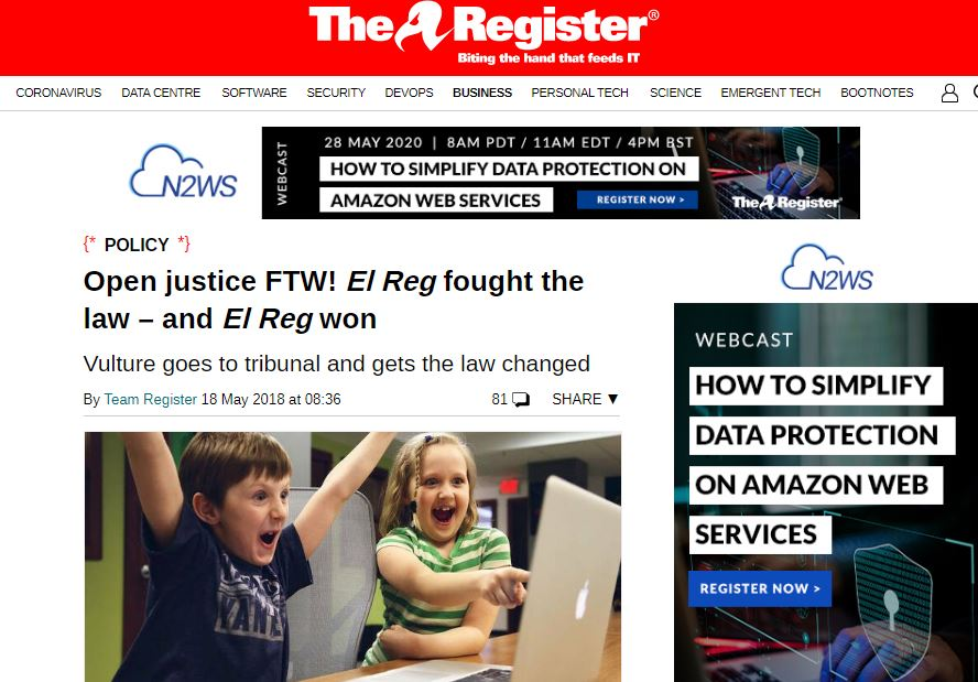 'Good day for journalism' as The Register wins libel payout from tech CEO over 'fake news' jibes and libelous Google Ad