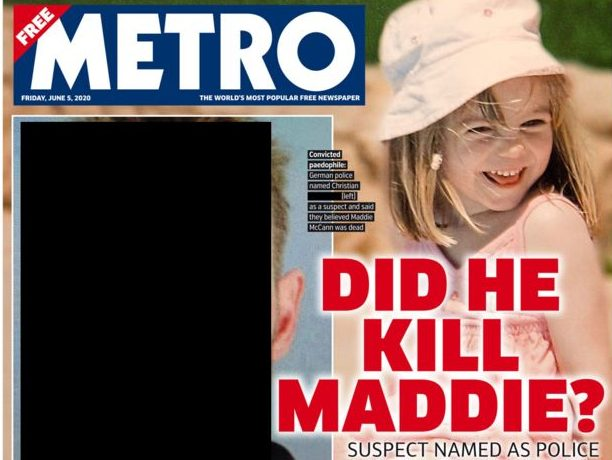 UK Madeleine McCann suspect front pages censored in caution over strict German laws