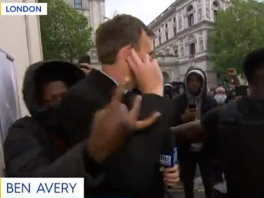 Journalists attacked and chased in London as protesters scream 'f**k the Daily Mail'