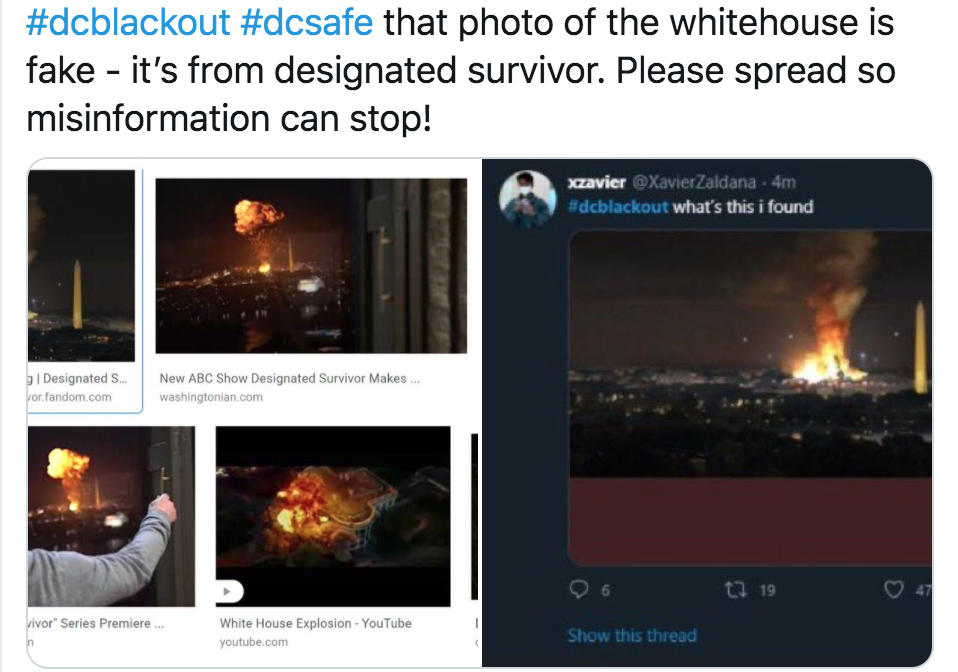 'Don't spread inaccurate news': Washington journalists rebut #DCBlackout rumours circulating on social media