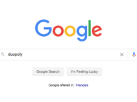 Google duopoly