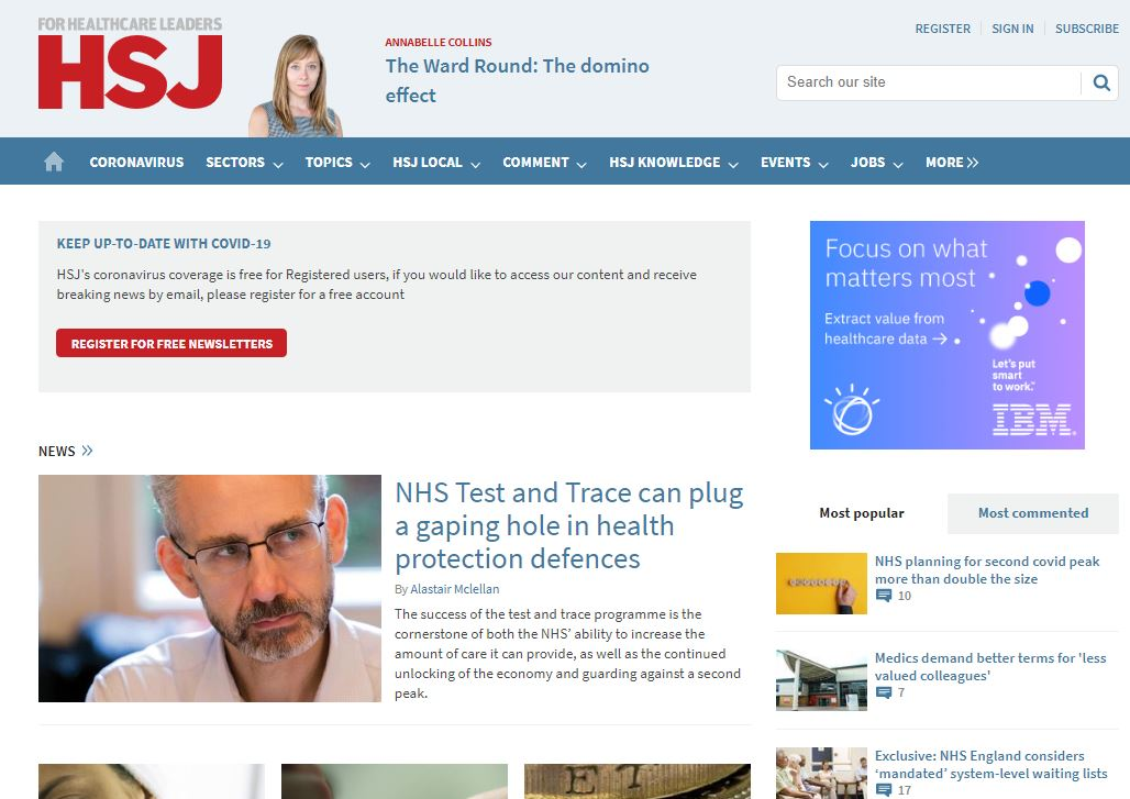 'Journalism has risen to the challenge' - HSJ editor Alastair McLellan on covering coronavirus