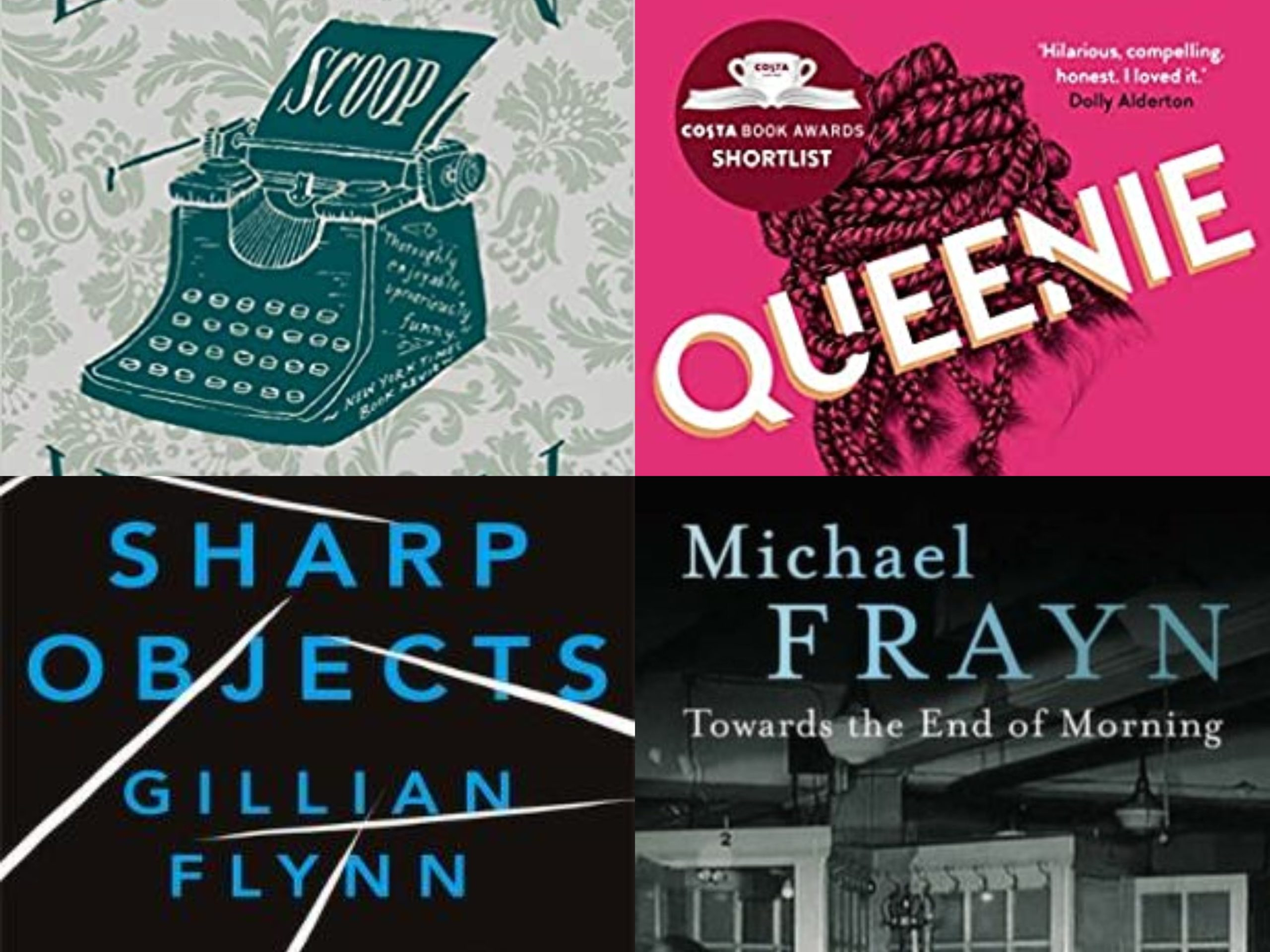 Book covers for round-up of best novels featuring journalists