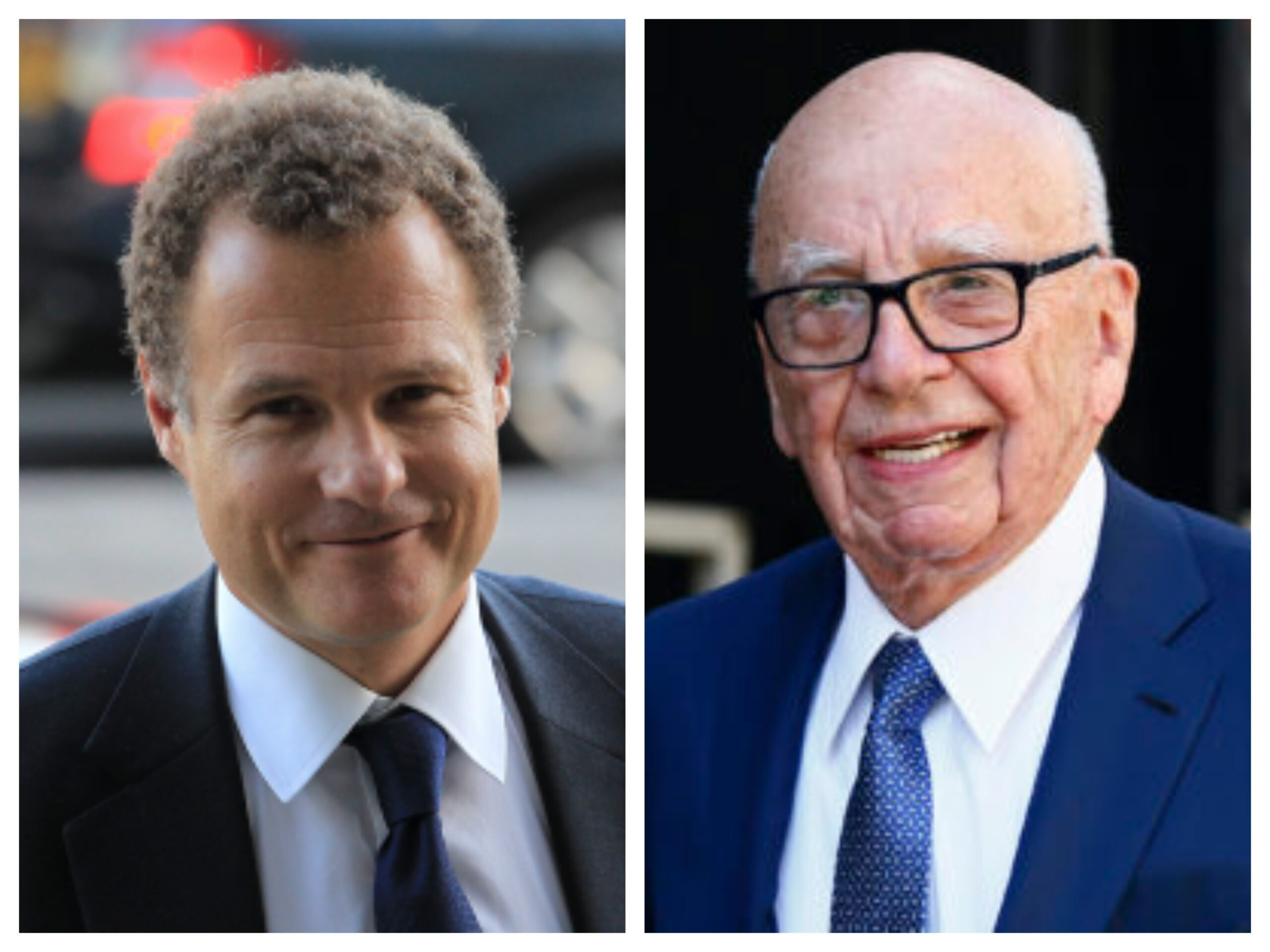 Lord Rothermere and Rupert Murdoch