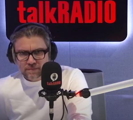 Talkradio's Jamie East quits after fellow presenter cut up face mask on air