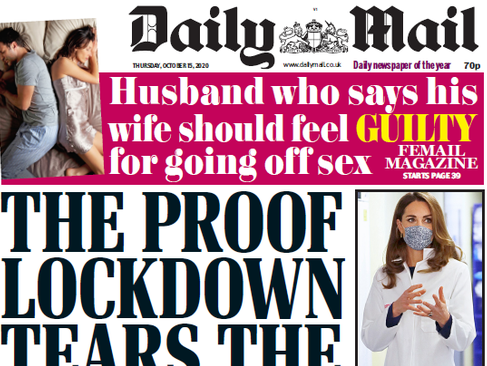 September national press ABCs: Daily Mail print sale back over 1m for first time in six months