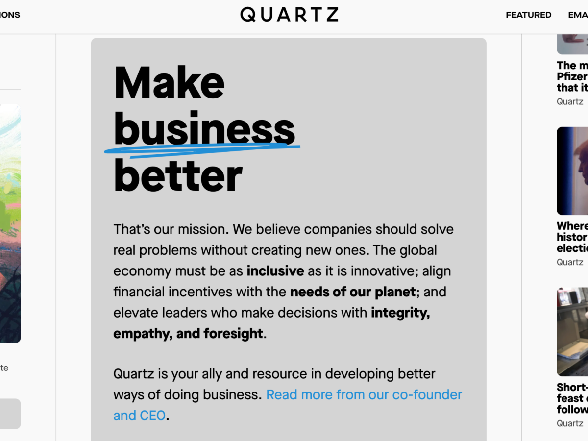 Quartz CEO (and new owner) Zach Seward on being a startup again: 'It ought to be an emboldening moment'