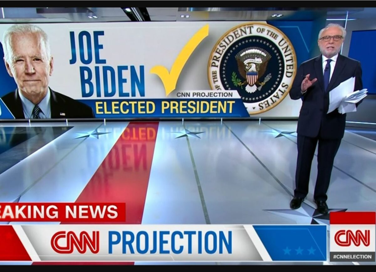 Trump rounds on 'lamestream media' as every major news organisation in the world calls election for Biden