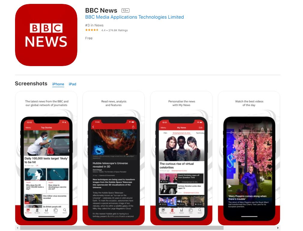 Most popular news apps in the UK and around the world for 2020 revealed