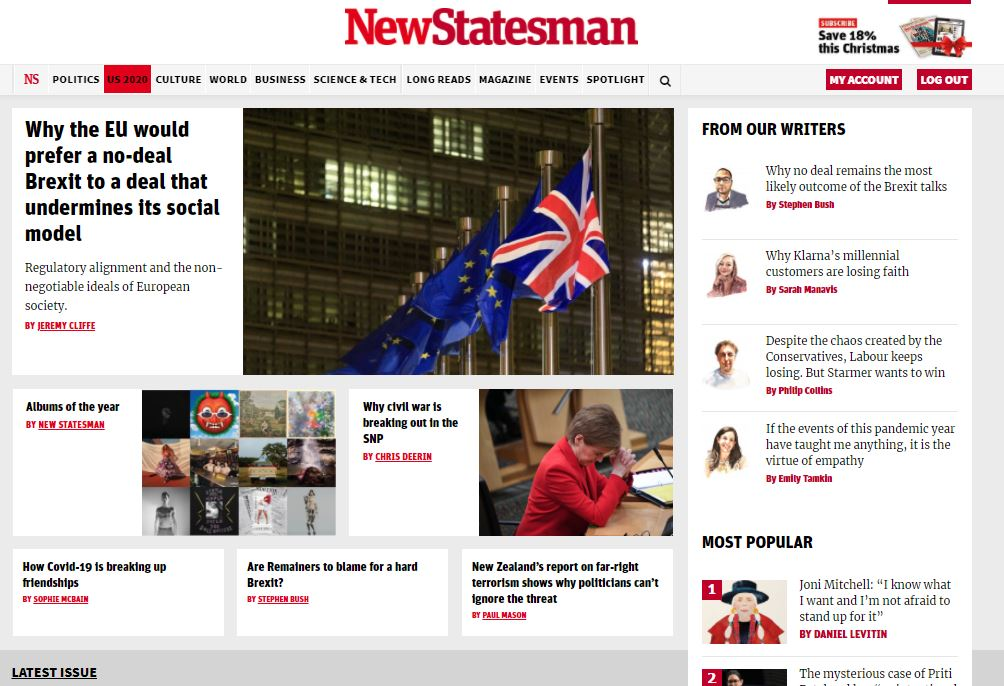 New Statesman launches business section showcasing new Monitor website network