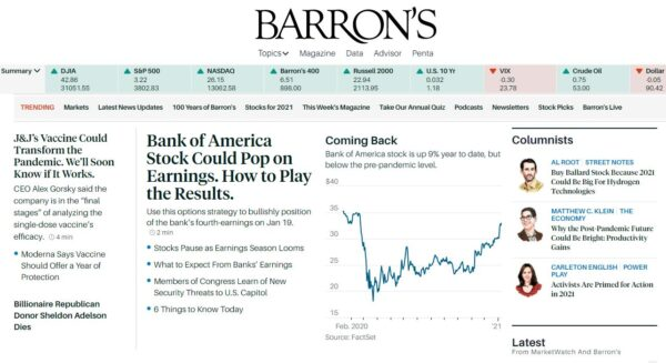 Marketwatch and Barron's grew traffic in UK and Europe