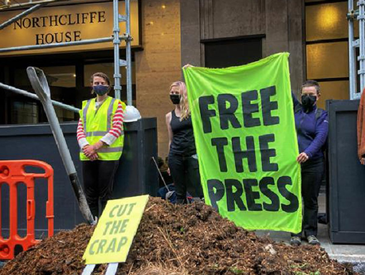 23 arrests at Extinction Rebellion 'free the press' protest which saw manure dumped outside Daily Mail